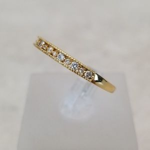 Jewelry - Delicate Yellow Gold Channel Set Band